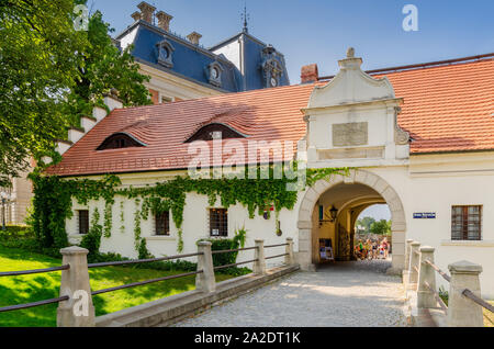 Pszczyna (ger.: Pless), Silesian province, Poland.  The Gate of the Privileged - entrance to the castle's park. - Stock Photo