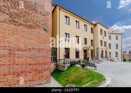 Oswiecim (ger.: Auschwitz), Lesser Poland province. The Oswiecim castle. - Stock Photo