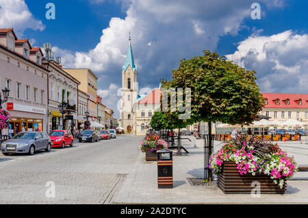 Oswiecim (ger.: Auschwitz), Lesser Poland province.  Main Market square. - Stock Photo