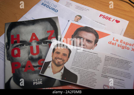 April 2019.Spain. Electoral propaganda of the different parties that attend the elections to elect the president of Spain. - Stock Photo