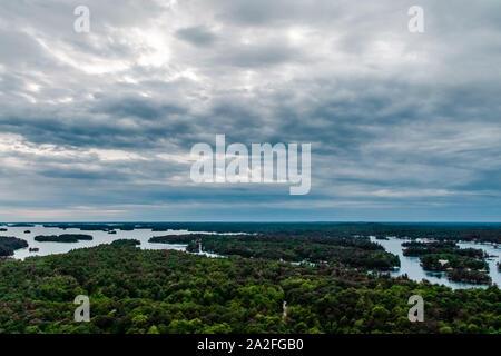 Thousand Islands in Ontario, Canada - Stock Photo
