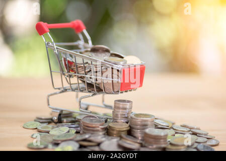 Shopping Online Concept: Mini Shopping - Stock Photo
