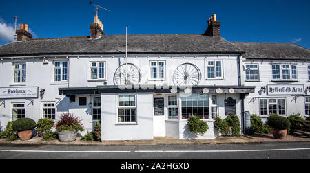 Netherfield Arms Public House, Netherfield Village, East Sussex, England - Stock Photo