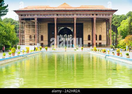 Chehel Sotoun pavilion, Esfahan, Iran - Stock Photo