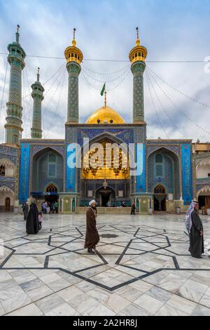 Hazrat-e Masumeh, Shrine of Fatima al-masumeh sister of eight Imam Reza and daughter of the seventh Imam Musa al-Kadhim, Qom, Iran - Stock Photo