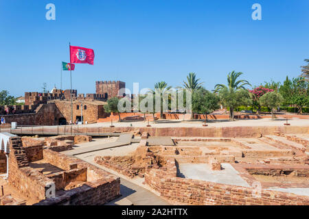 Silves, Algarve, Portugal.  The Castle of Silves. First built c. 201 BC. - Stock Photo