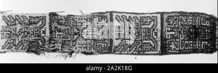 Band or Belt Fragment, A.D. 700/900, Nazca-Wari, Probably south coast, Peru, Peru, 51.4 x 7.0 cm (20 1/4 x 2 3/4 in - Stock Photo
