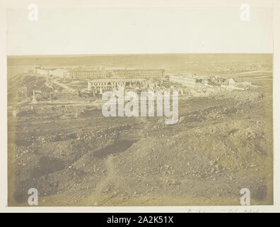 Buildings in Sebastopol, View Taken from the Redan, 1855, James Robertson, Scottish, c. 1813–d. after 1881, Scotland, Albumen print, 22.2 x 29.8 cm (image/paper), 32 x 40.5 cm (mount/page - Stock Photo