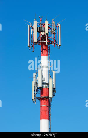 Mobile Phone Transmitter Mast, Communications Tower - Stock Photo