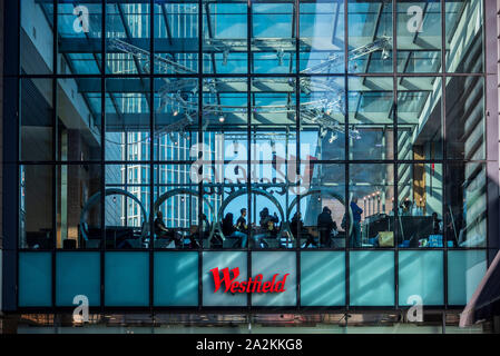Westfield Stratford City Shopping Centre on the Olympic Park Site in East London. Opened 2011. - Stock Photo