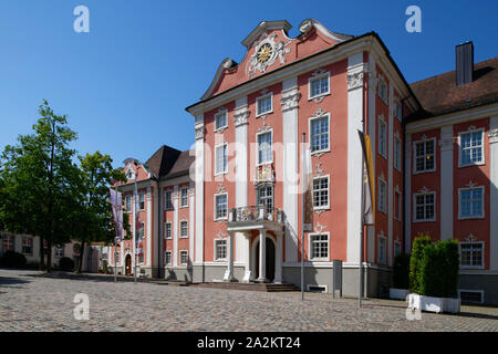 Entrance to the Neues Schloss (New Castle) in Meersburg, Lake Constance, Baden-Württemberg, Germany - Stock Photo