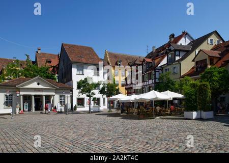 Castle square in Meersburg, Laake Constance, Baden-Württemberg, Germany - Stock Photo