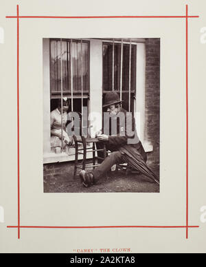 Caney the Clown, 1877, John Thomson, Scottish, 1837–1921, Scotland, Woodburytype, from the album 'Street Life in London - Stock Photo