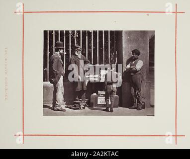 The Dramatic Shoe-Black, 1877, John Thomson, Scottish, 1837–1921, Scotland, Woodburytype, from the album 'Street Life in London - Stock Photo