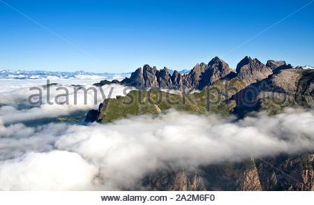 Odle group, Geislergruppe, South Tyrol - Stock Photo