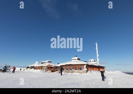 Kaunispää-tunturin huipulla talvella Lapissa - Stock Photo