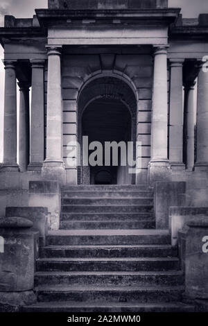 The atmospheric Brompton Cemetery in Kensington, London, UK, - Stock Photo