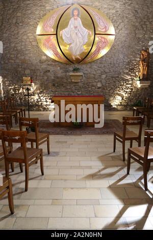 Chapelle Sainte-Anne dite chapelle des pénitents XVI - XVIII ème siècle. Megève. Haute-Savoie. France. / Chapel Sainte-Anne known as chapel of peniten - Stock Photo