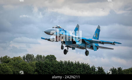 Ukrainian Air Force Sukhoi Su-27 Flanker - Stock Photo