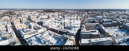 Oulun keskustaa ilmasta käsin talvella - Stock Photo