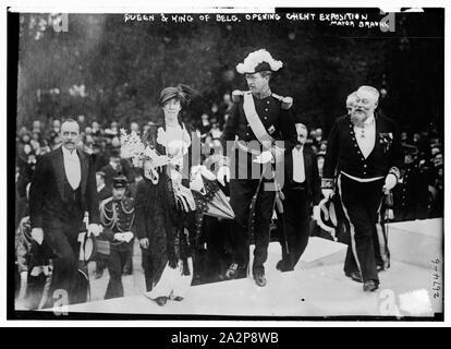 Queen & King of Belg. i.e., Belgium opening Ghent Exposition - Mayor Braunn i.e., Braun