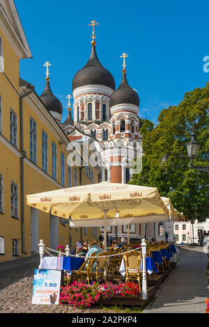 The Alexander Nevsky Cathedral on Toompea Hill  in Upper Old Town in Tallinn, Estonia. - Stock Photo