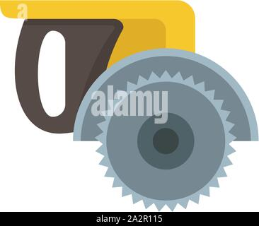 Miter saw icon. Flat illustration of miter saw vector icon for web design - Stock Photo