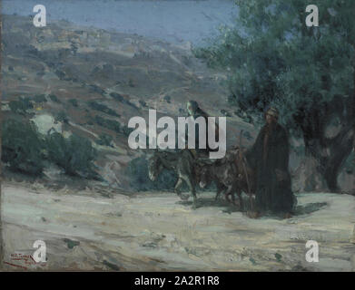 Henry Ossawa Tanner, American, 1859-1937, Flight into Egypt, 1899, oil on canvas, Unframed: 19 3/4 × 25 1/2 inches (50.2 × 64.8 cm - Stock Photo