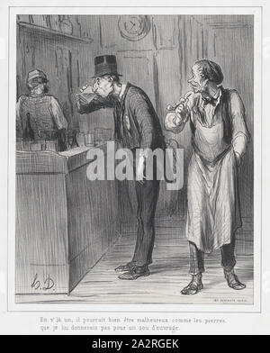 This one may look as unhappy as a rock, before I would give him a job, published in Le Boulevard, June 8, 1862,June .jpg - 2A2RGEK - Stock Photo