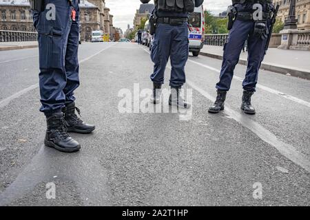 Paris, France. 3rd October 2019. Police Headquarter attacked Credit: EDOUARD MONFRAIS/Alamy Live News - Stock Photo