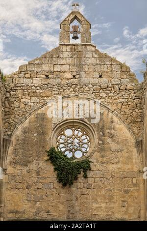 The remains of a monastery and hospital of the Order of San Anton. At it's greatest the complex included a church, convent, hospice, mill, orchard. - Stock Photo