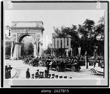 Reception of Prince of Udine, New York City--Passing Washington Arch--1917 - Stock Photo