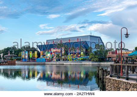 Orlando, Florida-July 20, 2019: Visiting the Universal Studios Theme Park. The place is a famous tourist attraction. - Stock Photo