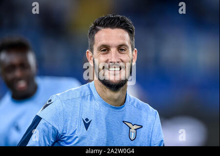 Rome, Italy. 03rd Oct, 2019. Luis Alberto of SS Lazio during the UEFA Europa League match between Lazio and Rennes at Stadio Olimpico, Rome, Italy on 3 October 2019. Photo by Giuseppe Maffia. Credit: UK Sports Pics Ltd/Alamy Live News - Stock Photo