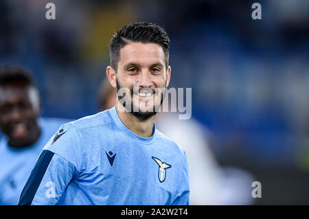 Rome, Italy. 03rd Oct, 2019. Luis Alberto of SS Lazio during the UEFA Europa League match between Lazio and Rennes at Stadio Olimpico, Rome, Italy on 3 October 2019. Credit: Giuseppe Maffia/Alamy Live News - Stock Photo
