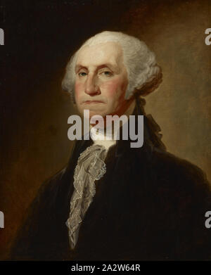 Copy of George Washington (The Athenaeum Portrait) by Gilbert Stuart, Ezra Ames (American, 1768-1836), After Gilbert Stuart (American, 1755-1828), date unknown, oil on canvas, 29 x 24 in. (canvas) 37-1/4 x 32 x 3-1/2 in. (framed), American Painting and Sculpture to 1945 - Stock Photo