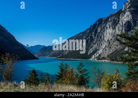 Seton Lake #7201 BC Canada - Stock Photo
