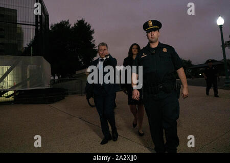 Washington, United States Of America. 03rd Oct, 2019. The State Department's former special envoy to Ukraine Kurt Volker leaves after testifying behind closed-doors on Capitol Hill on October 3, 2019. Credit: Stefani Reynolds/CNP   usage worldwide Credit: dpa/Alamy Live News - Stock Photo