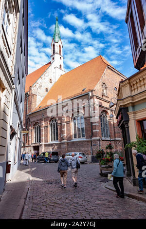 St John's a  Lutheran church in Riga, Latvia, - Stock Photo