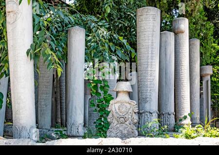 Eyup,istanbul,turkey-june 6,2019.The Eyup Sultan Mosque is built near the Golden Horn Bay in Eyup District of Istanbul. Ottoman cemetery near Eyup - Stock Photo