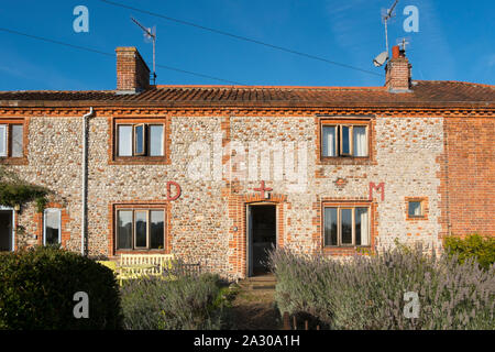 The Wiveton Hall holiday cottages in Marsh Lane, Wiveton, North Norfolk, UK - Stock Photo
