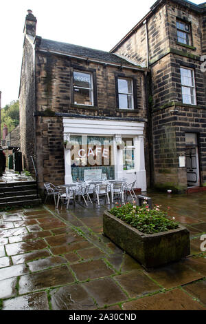 Sid's cafe made famous in BBC 'The Last of the Summer Wine' television series in Holmfirth, West Yorkshire - Stock Photo