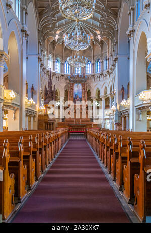 Interior of the St. John's Church in Helsinki, Finland. - Stock Photo