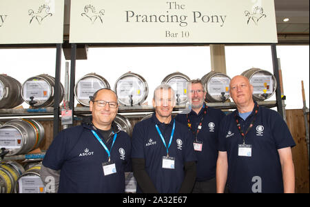 Autumn Racing Weekend & Ascot Beer Festival, Ascot Racecourse, Ascot, Berkshire, UK. 4th October, 2019.  Credit: Maureen McLean/Alamy Stock Photo