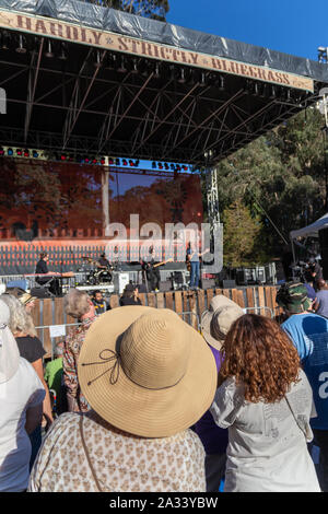 San Francisco, California, USA. 4th October 2019. Hardly Strictly Bluegrass, an annual free and non-commercial music festival held the first weekend of October in San Francisco's Golden Gate Park. The festival has been held every year since the first event in 2001. Credit: Tim Fleming/Alamy Live News - Stock Photo