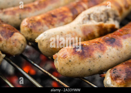 Roster on the grill - Stock Photo