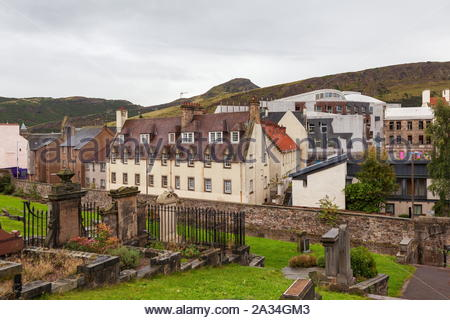 Old Calton Burial Ground Edinburgh Scotland - Stock Photo
