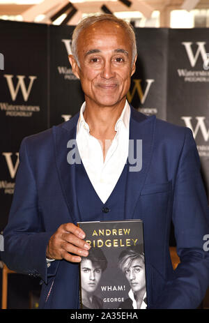 London, UK. 05th Oct, 2019. Andrew Ridgeley attends a book signing for 'Wham! George & Me' at Waterstones bookstore in Piccadilly. Credit: SOPA Images Limited/Alamy Live News - Stock Photo