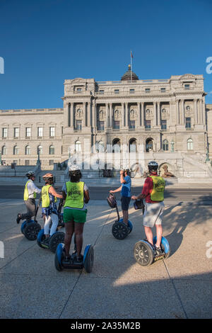 Segway Tour in front of the Library of Congress, Capitol Hill, Washington DC, USA - Stock Photo