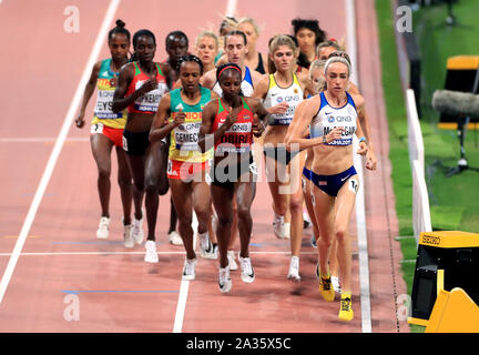 Great Britain's Eilish McColgan in action in the Women's 5000m final during day nine of the IAAF World Championships at The Khalifa International Stadium, Doha, Qatar. - Stock Photo